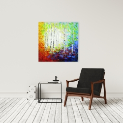 Canvas 24 x 24 - Colorful forest