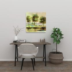 Canvas 24 x 24 - Trees near the lake