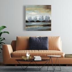 Canvas 24 x 24 - Grey landscape