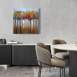 Canvas 24 x 24 - Colorful leaves trees