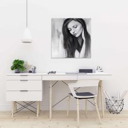Canvas 24 x 24 - Realistic woman portrait