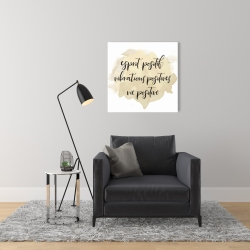 Canvas 24 x 24 - Esprit positif vibrations positives...