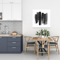 Canvas 24 x 24 - Black shapes