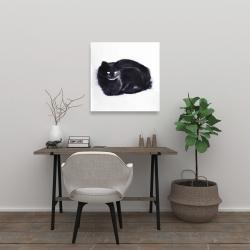 Toile 24 x 24 - Chat abstrait à l'aquarelle