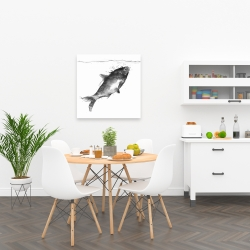Canvas 24 x 24 - Happy swimming fish