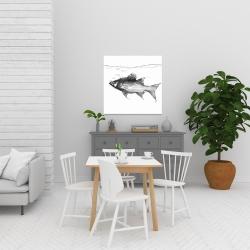 Canvas 24 x 24 - Swimming fish