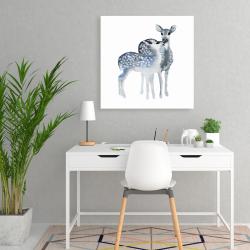 Toile 24 x 24 - Un amour de faons bleus