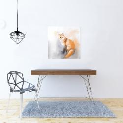 Canvas 24 x 24 - Watercolor fox