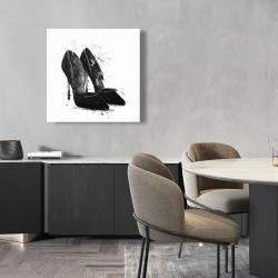 Canvas 24 x 24 - Black pumps