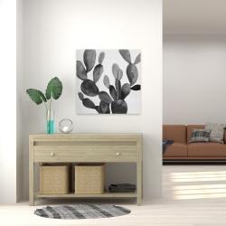 Canvas 24 x 24 - Grayscale cactus