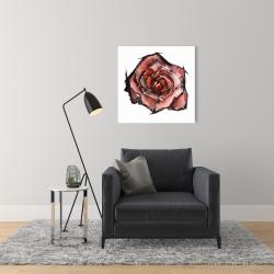 Canvas 24 x 24 - Watercolor rose