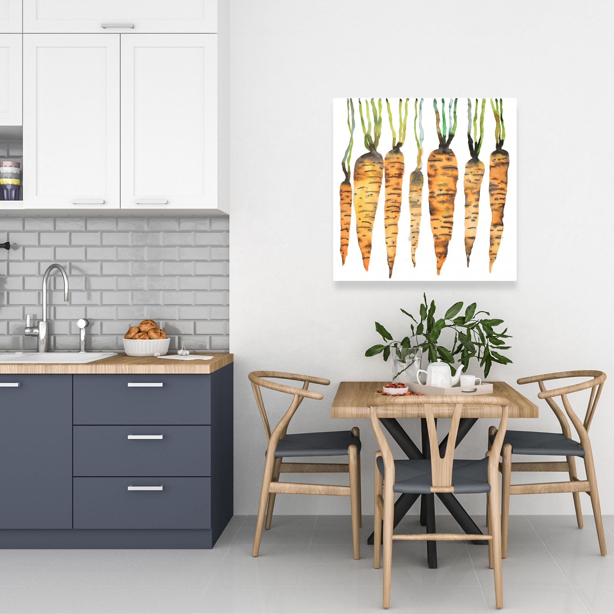 Canvas 24 x 24 - Watercolor carrots