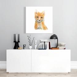 Canvas 24 x 24 - Watercolor baby fox