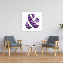 Canvas 24 x 24 - Ampersand purple