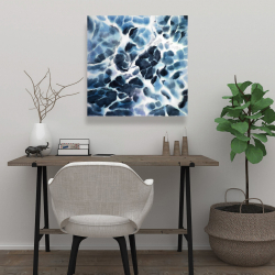Canvas 24 x 24 - Abstract stormy sea waves at tenerife sea