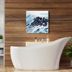 Canvas 24 x 24 - Sea waves with paint splash