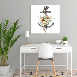 Canvas 24 x 24 - Anchor with flowers