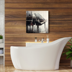 Canvas 24 x 24 - Industrial style piano