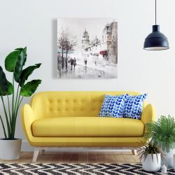 Canvas 24 x 24 - Gray city street