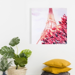Canvas 24 x 24 - Pink eiffel tower