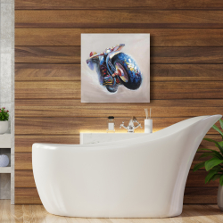 Canvas 24 x 24 - Motorcycle in jump