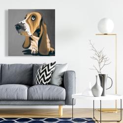 Canvas 24 x 24 - Gold basset hound dog