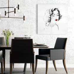 Canvas 24 x 24 - Watercolor woman