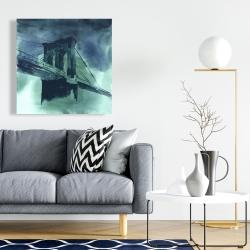 Canvas 24 x 24 - Abstract view of brooklyn bridge