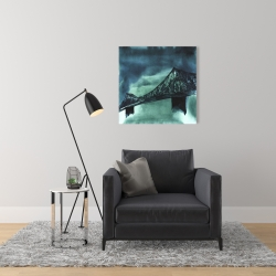 Canvas 24 x 24 - Montreal jacques-cartier bridge