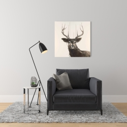 Canvas 24 x 24 - Abstract deer