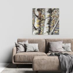 Canvas 24 x 24 - Budding white birches 1