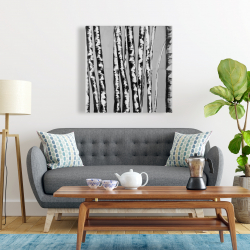 Canvas 24 x 24 - Birches intersecting