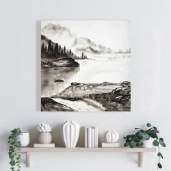 Canvas 24 x 24 - Peaceful landscape