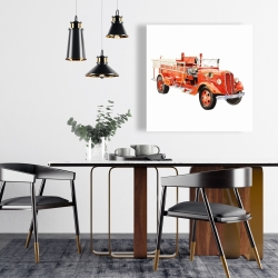 Canvas 24 x 24 - Vintage fire truck