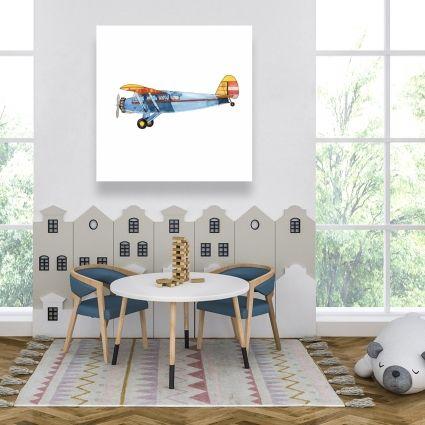 Small blue plane