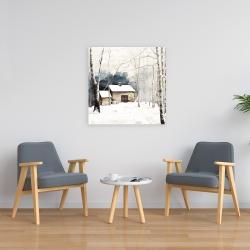 Canvas 24 x 24 - Small winter barn