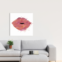 Canvas 24 x 24 - Watercolor pink lipstick