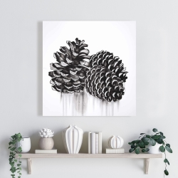 Canvas 24 x 24 - Three small pine cones