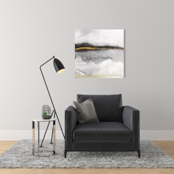 Canvas 24 x 24 - Gold stripe abstract