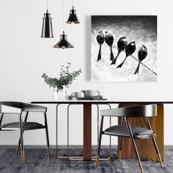 Canvas 24 x 24 - Five birds perched