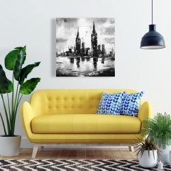 Canvas 24 x 24 - Mono urban cityscape