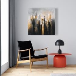 Canvas 24 x 24 - Abstract gold skyscraper