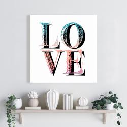 Toile 24 x 24 - Amour coloré