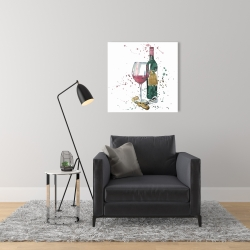 Canvas 24 x 24 - Bottle of red wine