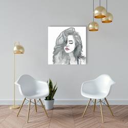 Canvas 24 x 24 - Beautiful female hair