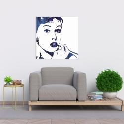 Canvas 24 x 24 - Audrey hepburn: cigarillo