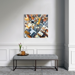 Canvas 24 x 24 - High top view of buildings in new york