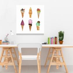 Canvas 24 x 24 - Ice cream cones