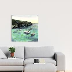 Canvas 24 x 24 - Boats in cala macarella