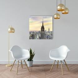 Canvas 24 x 24 - Sunset over new york city